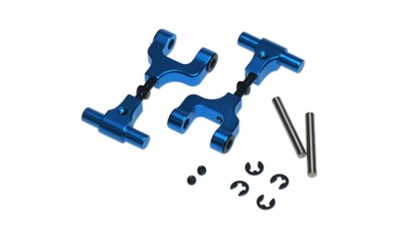 Yeah Racing Aluminum Adjustable Rear Upper Arm Set For Tamiya TT02 #TT02-004BU