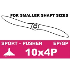 Sport Propeller - Pusher / CCW - EP/GP - 10X4P (for smaller shaft sizes)