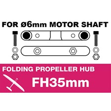 Folding Electric Propeller Blades Adapter Hub - 35MMFH (for 6mm motor shaf