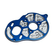 Factory Team Milled Motor Plate, blue
