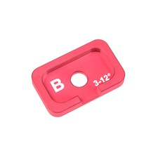 Alum. Caster Adjustment Plate FSX10 - B - 3° - 12° - 1 pc