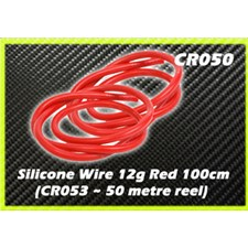 Silicone Wire 12g - Red 1 Metre