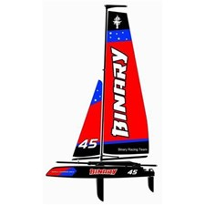 Binary 400mm Catamaran Segelboot rot RTR
