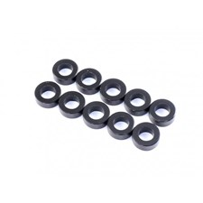 3,0 x 5,5 x 0,5mm Aluminum Spacer (10pcs) - Black