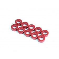 3,0 x 5,5 x 0,5mm Aluminum Spacer (10pcs) - Red