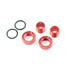 Aluminum 6mm Body Height Fine Adjuster Set - Red