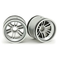 F103 Front Wheel for Rubber Tire - Silver Luster (2pcs/Set)
