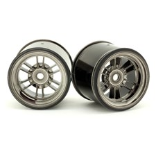 F10 Rear Wheel for Rubber Tire - Black Luster (2pcs/Set)
