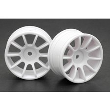 1/10 M-Chassis 10 Spoke Wheels - White (2pcs/Set)