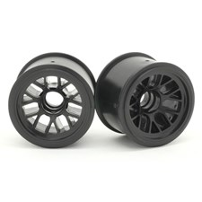 F-104 Front Wheel for Rubber Tire - Black (2pcs/Set)