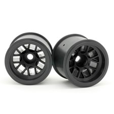 F-104 Rear Wheel for Rubber Tire - Black (2pcs/Set)