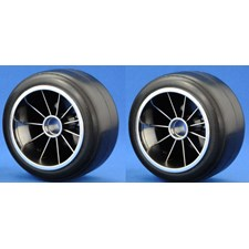 F104  Pre-glued Rubber Front 61mm Tires, XR High Grip Compound