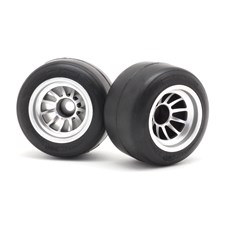 F104  Pre-glued Rubber Rear 61mm Tires, XR High Grip Compound