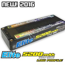 Elite 5200mah LCG Low Profile 50C 7.4V Hard Case Inboard Pack