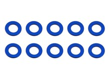 Ballstud Washers, 5.5x0.5 mm, blue aluminum